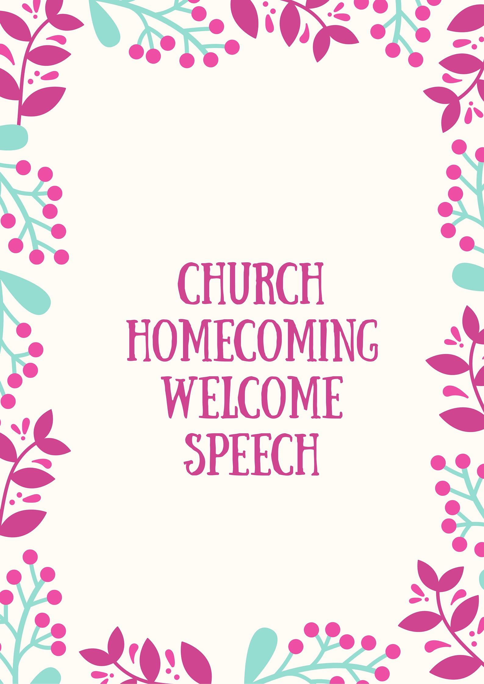 Welcome Speech Examples