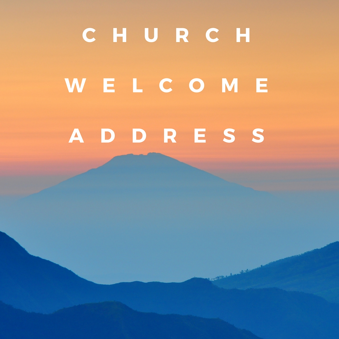 Here is the family and friends church welcome speech to share in the ...