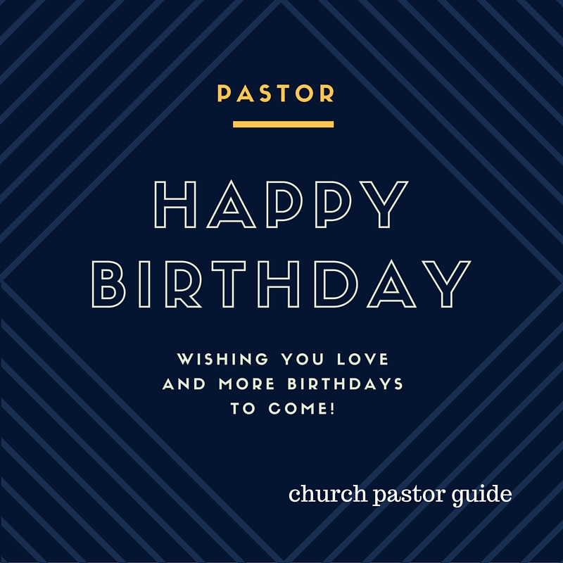 Pastors Birthday Speech
