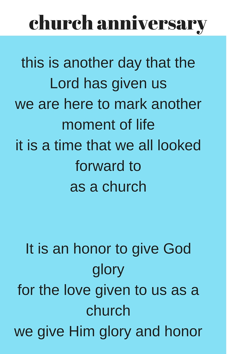 church anniversary speeches -Here is a sample speech to ...
