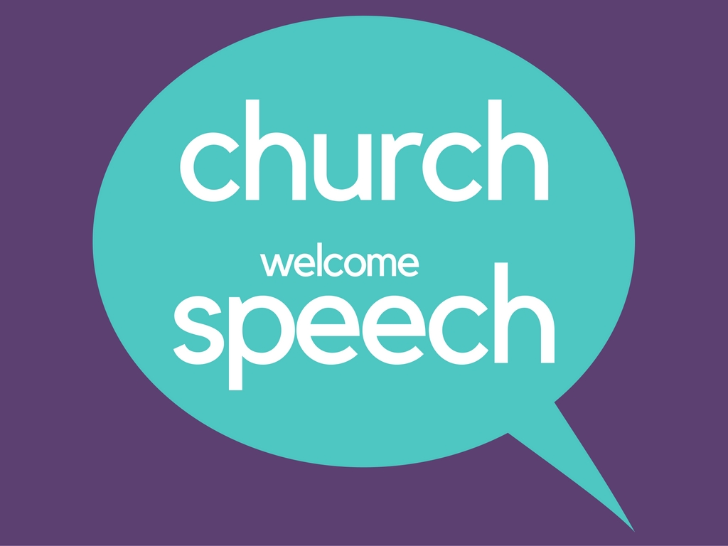 welcome speech for church - photo #23