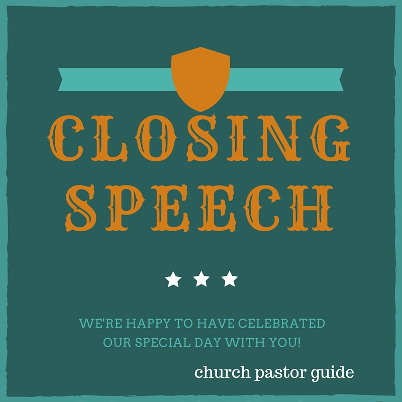 occasion speech for pastor anniversary