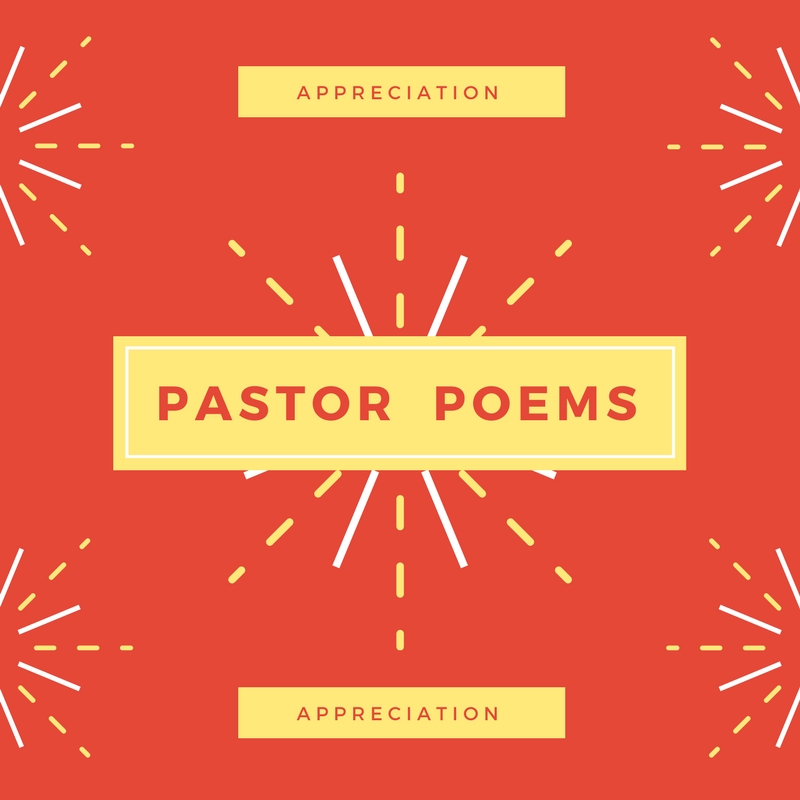 pastor appreciation poems for an occasion in the church