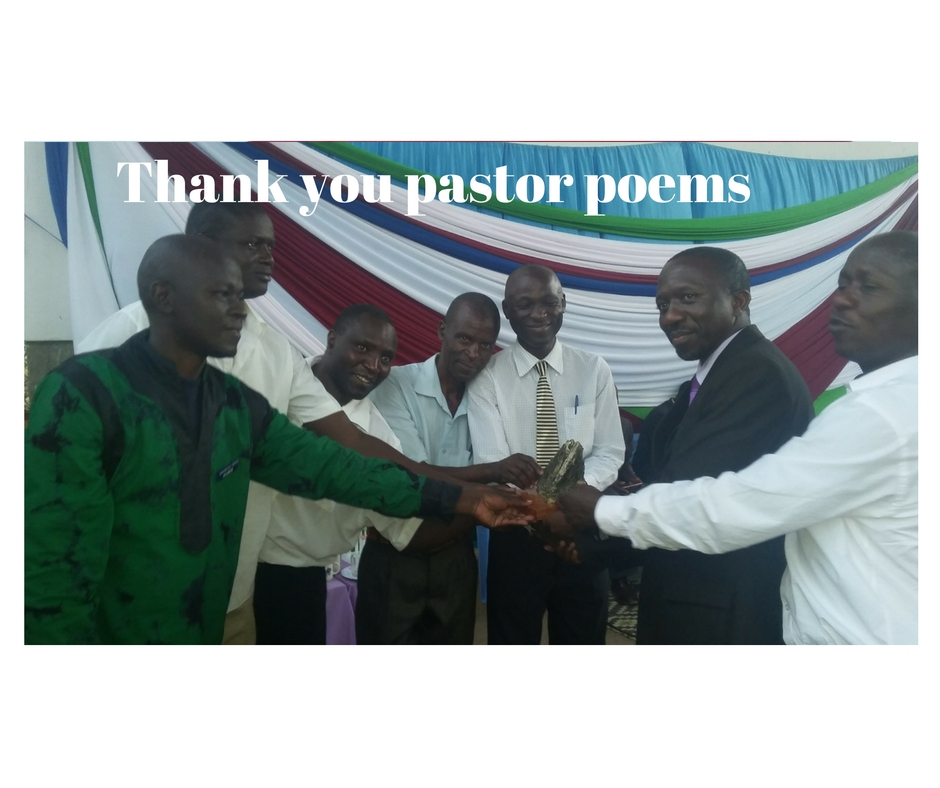 Thank you pastor poems to share during the occasion
