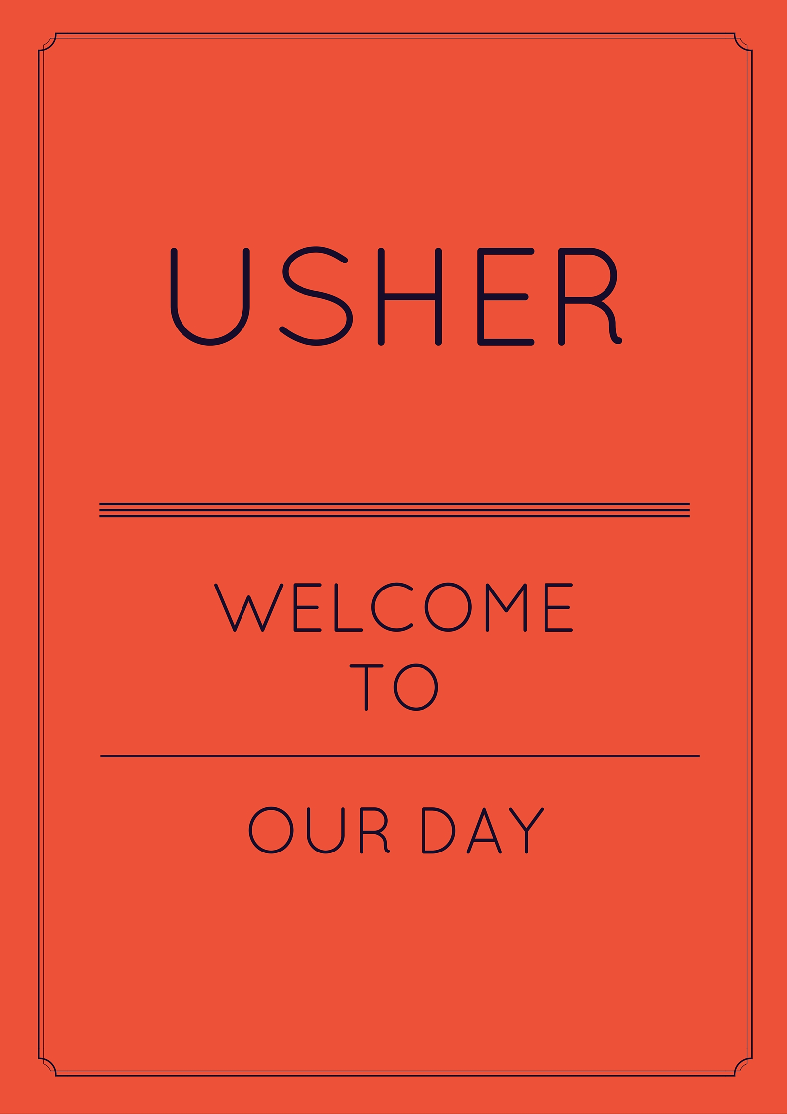 usher day speeches for church