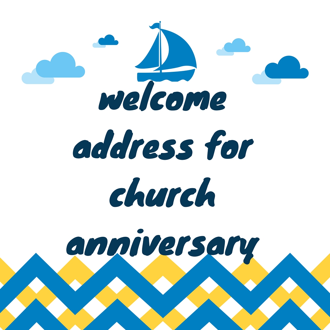 Welcome Speech Church Anniversary | just b.CAUSE